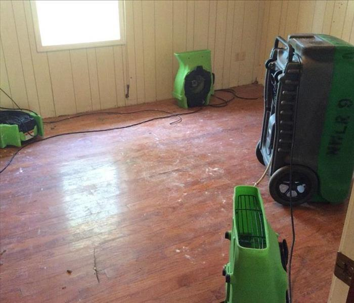 LGR dehu and air movers wood floor drying
